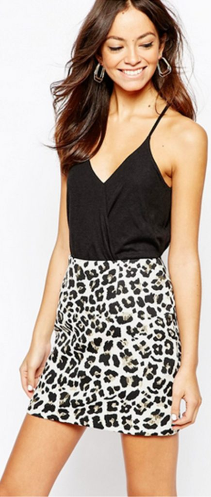 Sexy Top with printed Skirt.